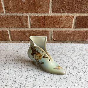 Antique Victorian Ceramic Shoe